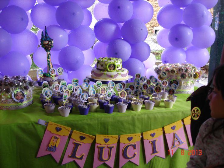 Cake, cookies, cakepops y cupcakes de Rapunzel