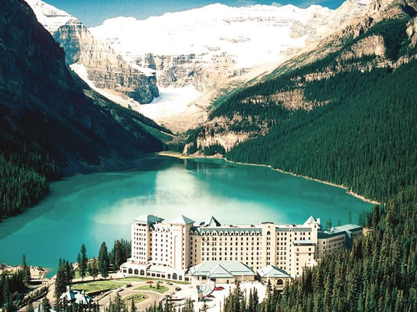 The Fairmont Chateau Lake Louise in Canada. We stayed in the winter time. Absolutely beautiful a and the hot buttered rum to die for!