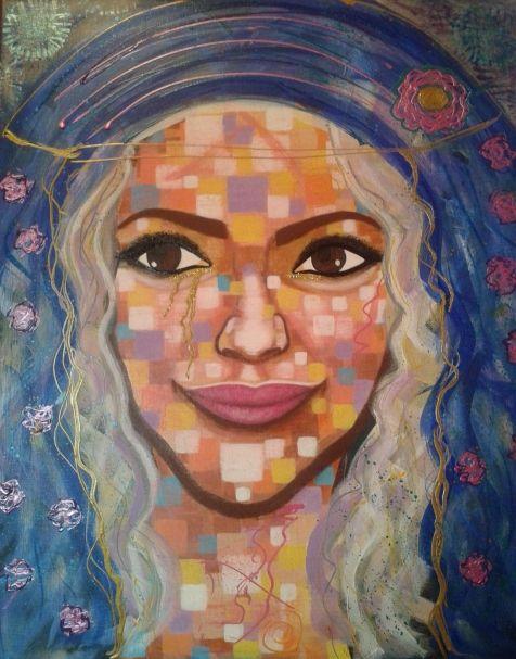 the mystic woman by STEFANO acrylic on canvas(50x60cm) 2015 fashion art acrylic,painter,paint,painting,portrait,modernpainting,fineart,art