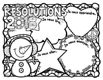 2018 New Year's Resolutions * Free * Mes résolutions