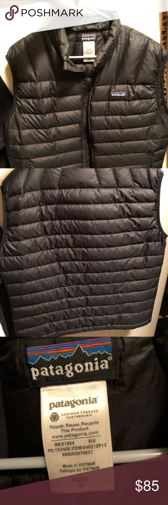 Black Patagonia Vest Black Patagonia vest! Men's M (but I wore frequently as a woman as an oversized vest) Patagonia Jackets & Coats Vests