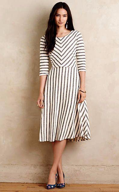 Lizavetta Striped Midi Dress #anthrofave