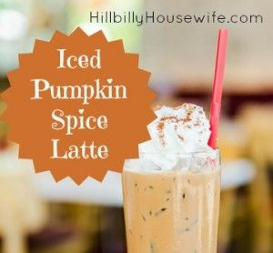Iced pumpkin spice latte with whip cream on top