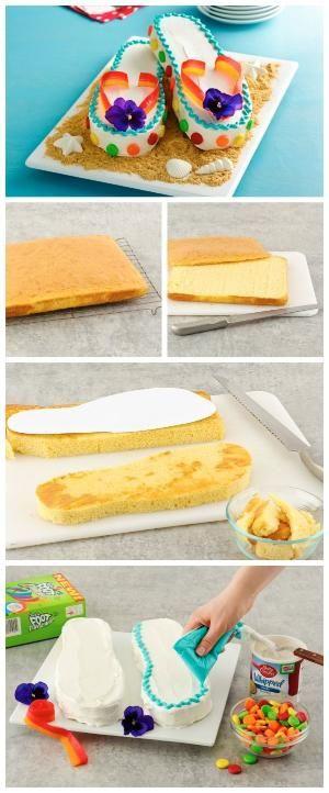 Flip flop cake by vonda