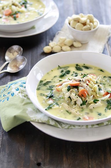 Lemon Chicken and Orzo Soup | Chicken Soup with Lemon, Spinach and ...
