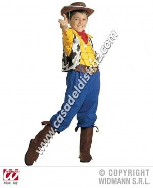 Disfraz de Billy el niño, similar a Woody de Toy Story.  #Disfraces #Carnaval www.casadeldisfraz.com