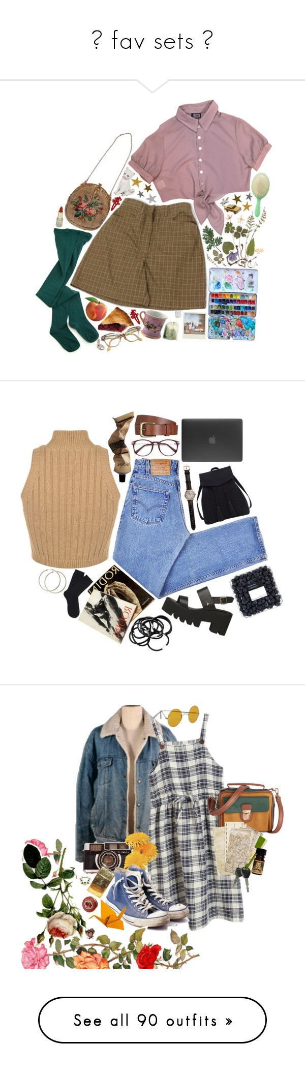 """✧ fav sets ✧"" by bx-sxnnt ❤ liked on Polyvore featuring Retrò, My Mum Made It, Mimco, Nach, CB2, Levi's, Aesop, Will Leather Goods, Shinola and Incase"