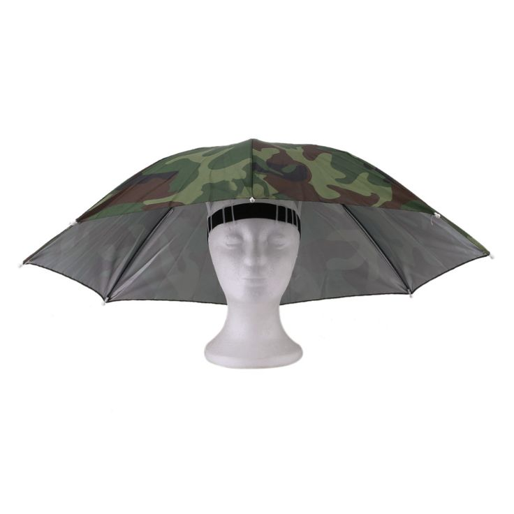 Outdoors Fishing Women Men Umbrella Portable 69cm Umbrella Hat Cap Folding Fishing Hiking Golf Beach Headwear Handsfree Umbrella