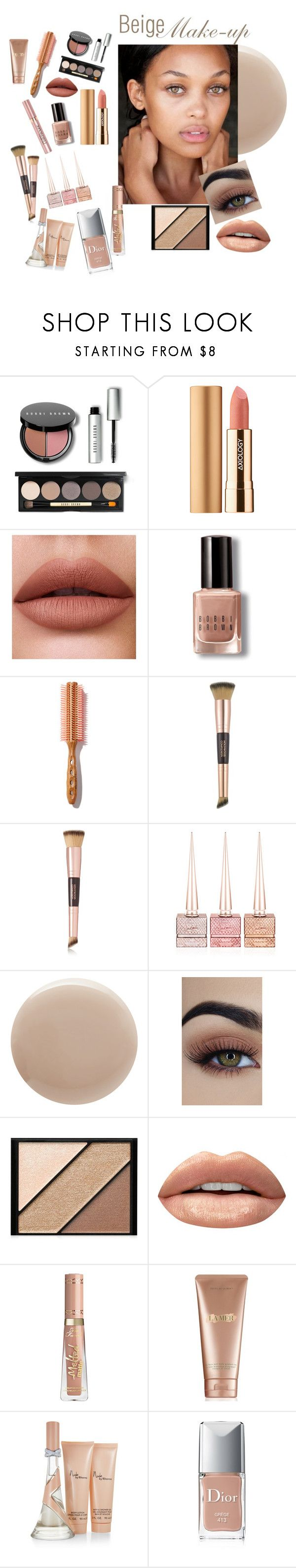 """Beige Make-up"" by andrealorena-7879 ❤ liked on Polyvore featuring beauty, Bobbi Brown Cosmetics, Axiology, Charlotte Tilbury, Christian Louboutin, Oribe, Elizabeth Arden, Huda Beauty, La Mer and Christian Dior"