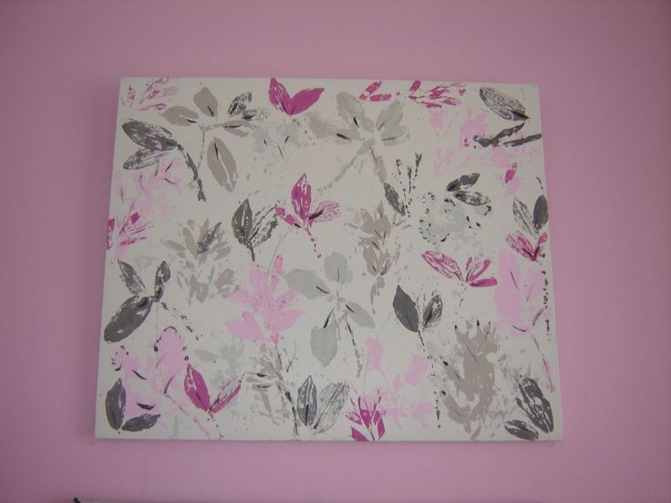 This is a painting I did for my daughters room, on a canvas I got from the recycling shop, I painted over the existing picture and used leaves from the garden, painted on the backs of then and then pressed them to the canvas.