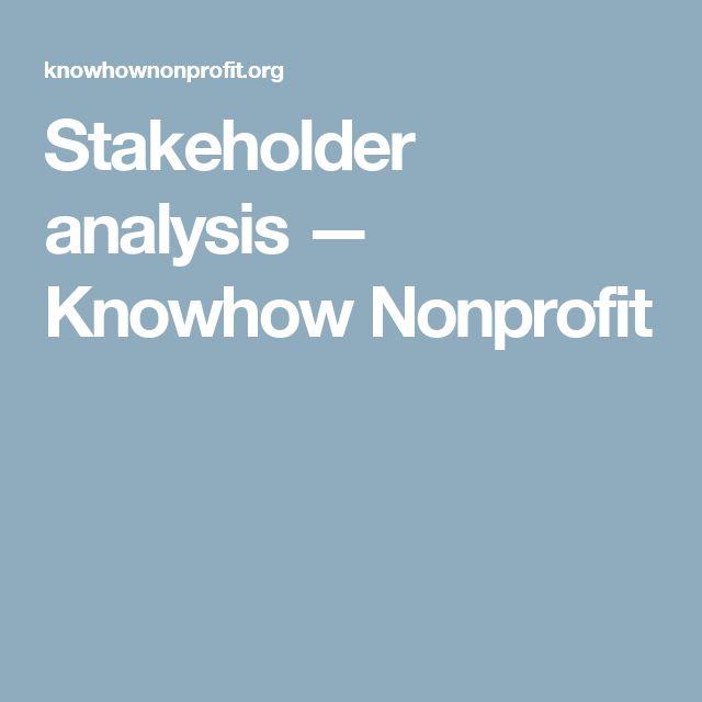 Stakeholder analysis — Knowhow Nonprofit