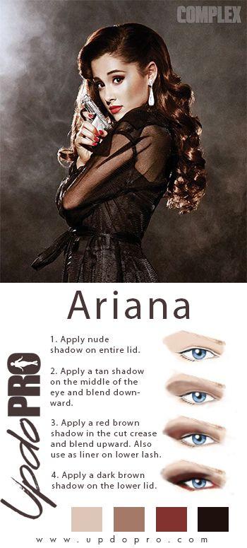 Ariana Grande makeup look. http://www.updopro.com/