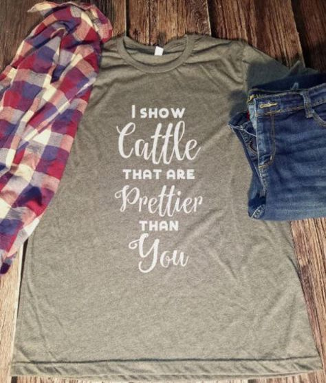 Show Cattle Shirt  Cow Shirt  Steer Shirt  Bull Shirt  FFA