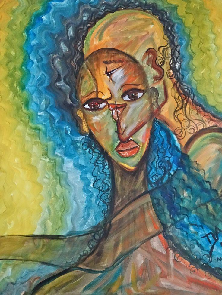 Reflexion acrilico de 1999 pintor DAM