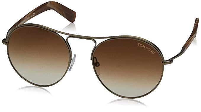 f9e1724bcc60 Tom Ford Sunglasses TF 449 Jessie 33F Gold Brown Multicolor 54mm ...