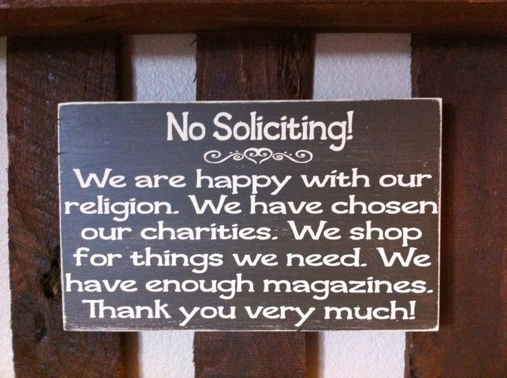 Clever No Soliciting Signs For Pinterest No Soliciting