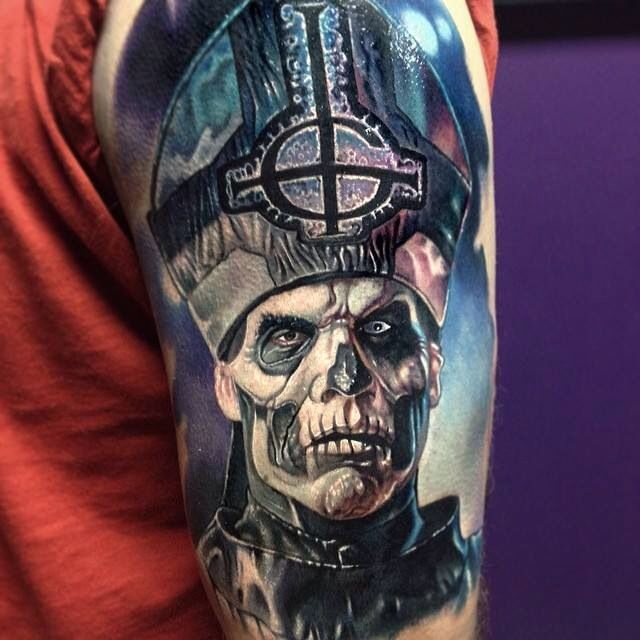 Ghost bc frontman tattoo | Movie + TV + Celeb Tattoos ...