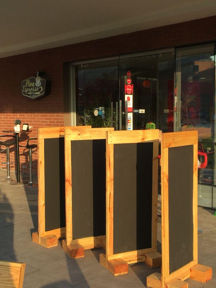 Pizarras para restorán, bares y cafeterías hechas de Pallet