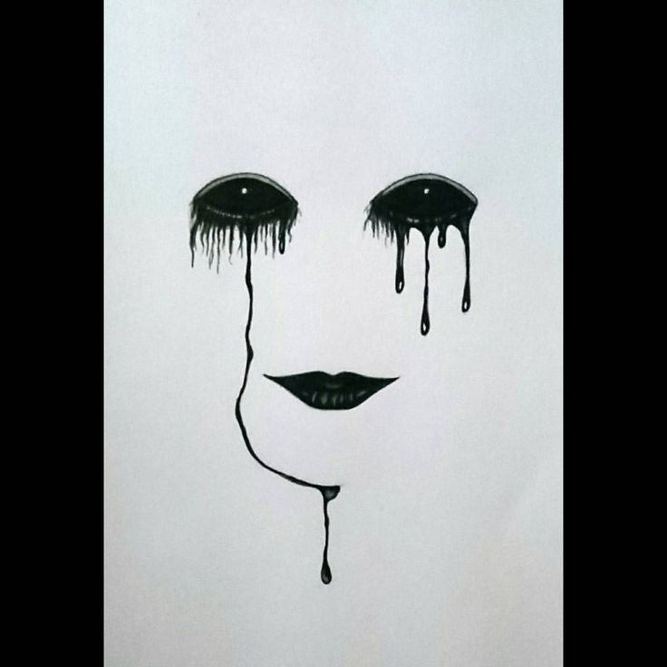 Image result for dark sad drawings