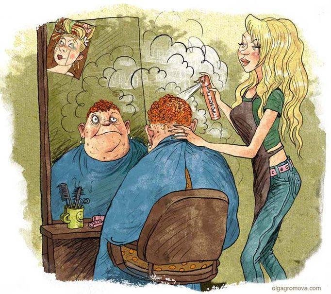 Веселые картинки парикмахерская