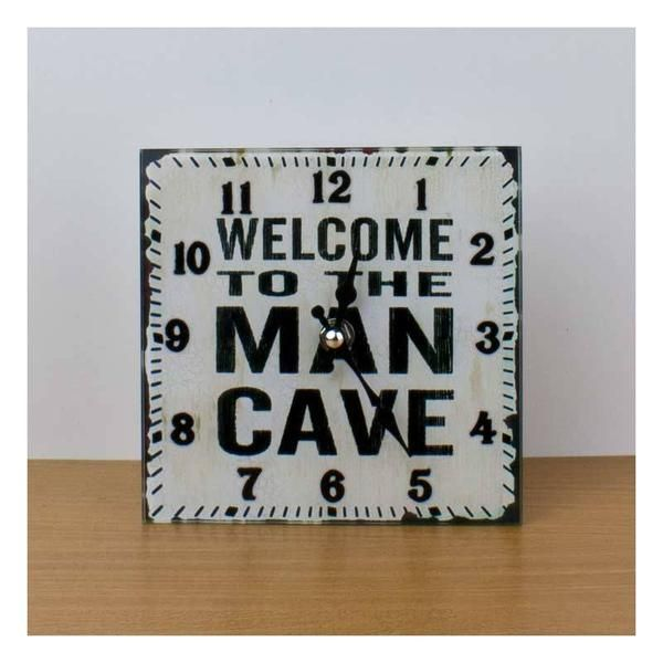 Get Posh Man Cave Clock (15cm) | Koop.co.nz