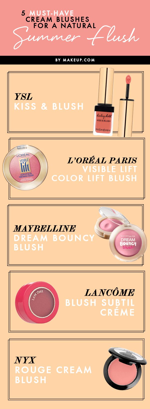 We've got five cream blushes to get you through the summer with lovely rosy cheeks!