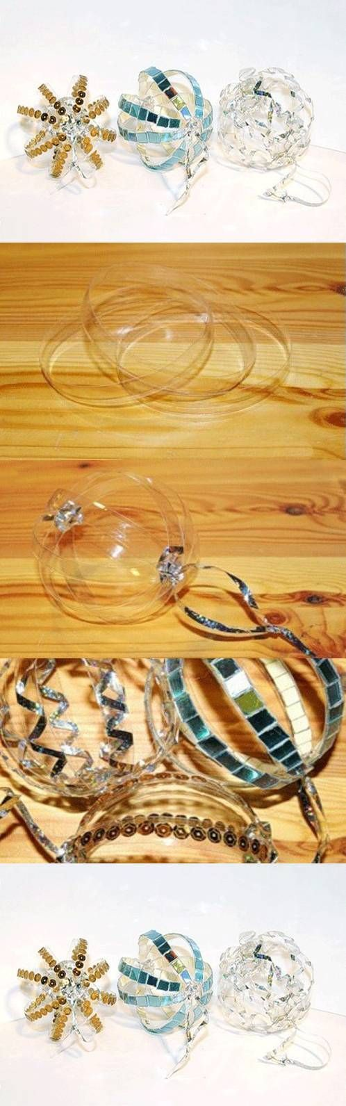 DIY Plastic Bottle Ring Ornaments DIY Projects /...
