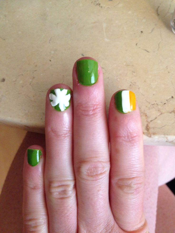 Ireland Rugby Nails St. Patricks Day Nails