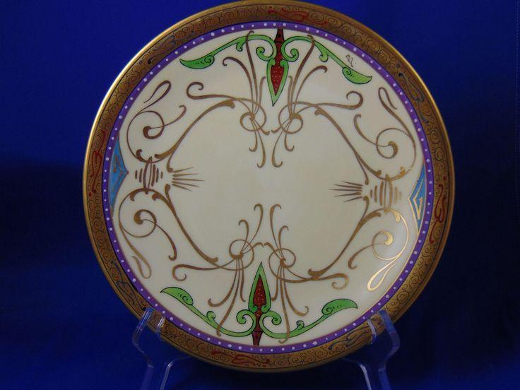 "Charles Martin Limoges Julius H. Brauer Studios Arts & Crafts Arabian/Persian Design Plate (Signed ""B."" for Max L. Bachman/c.1910-1916)"
