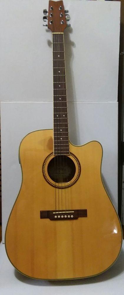 Washburn 6-string Acoustic-Electric Guitar D10SCE NAT CA04077387 & Soft Case #Washburn