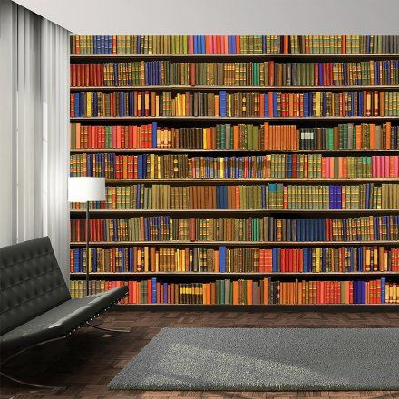 72 migliori immagini adesivi murali e carte da parati su for Carta da parati libri
