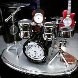 Drum Set Miniature Drummers Kit Collectible Musician Mini Clock