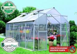 LANIT PLAST - skleník LanitGarden Plugin 8x12 stříbrný + základna ZDARMA
