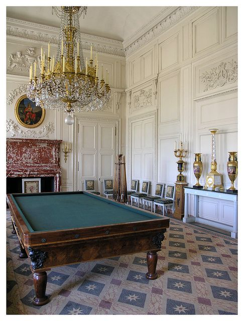 Versailles - Grand Trianon interior , Billiard room .