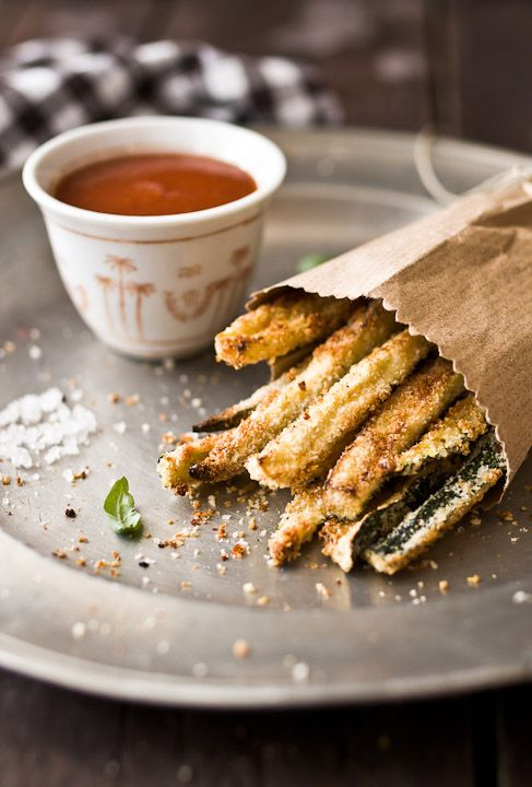Oven Baked Zucchini Fries & Homemade Tomato Ketchup
