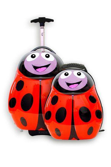 Trolley en rugzak Polka het lieveheersbeestje   Cutie and Pals - Kinderkoffers bij Kinderbagage
