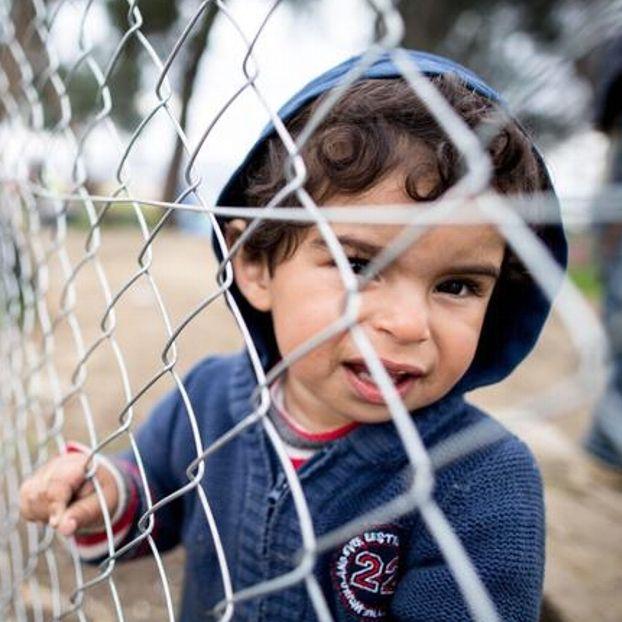 Un bambino nel campo profughi di #Idomeni #Grecia