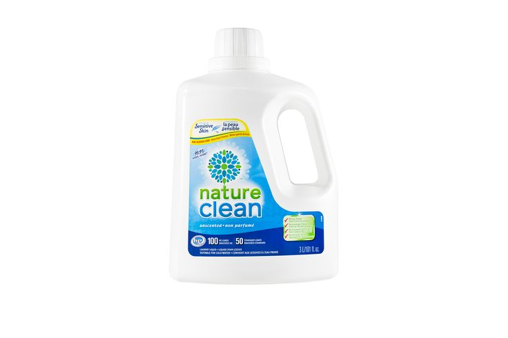 99.9% Natural Hypoallergenic Unscented Laundry Liquid 3L   Nature Clean