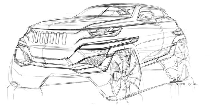 20150723 Jeep Sketch on Behance