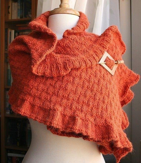 Knitting Pattern  Rococo Shawl / Wrap by Elena Rosenberg
