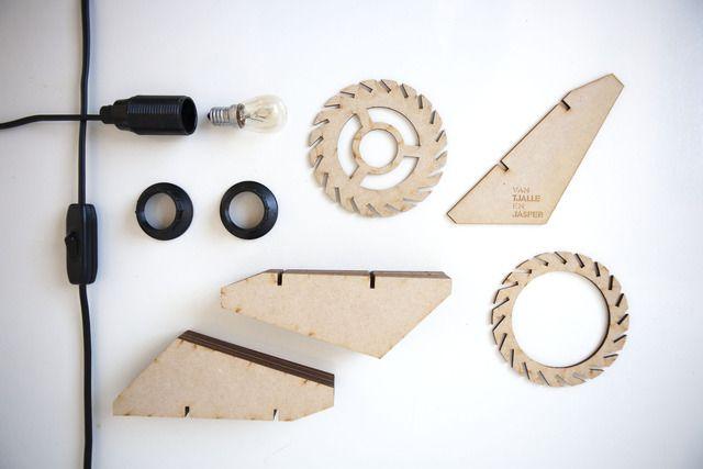 Build your own designlamp with the Laser Cut Lamps from Van Tjalle en Jasper!