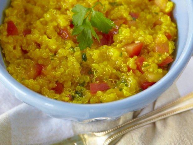 Risoto de quinoa com tomate e açafrão  - Projeto Detox - GNT