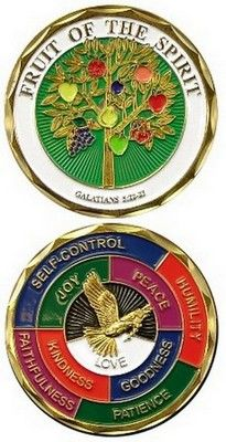 Challenge Coin-Fruit Of The Spirit $11.99 #Military #Coins http://www.armynavyshop.com/prods/ec-2426.html