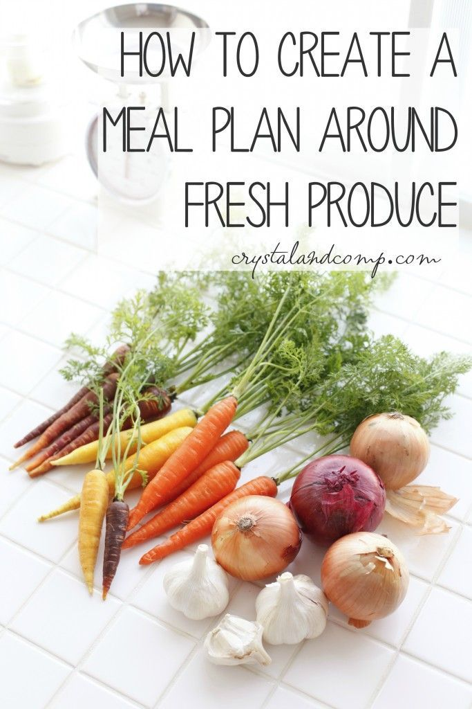 how to create a meal plan around fresh produce