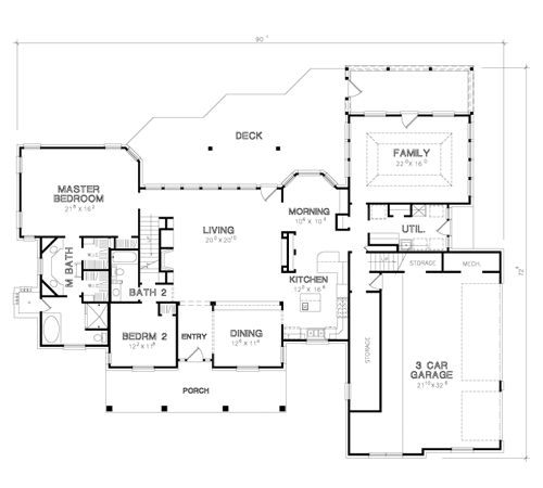 First Floor Plan Image Of The Norwich House Plan Dream Home Pinterest Bonus Rooms Country