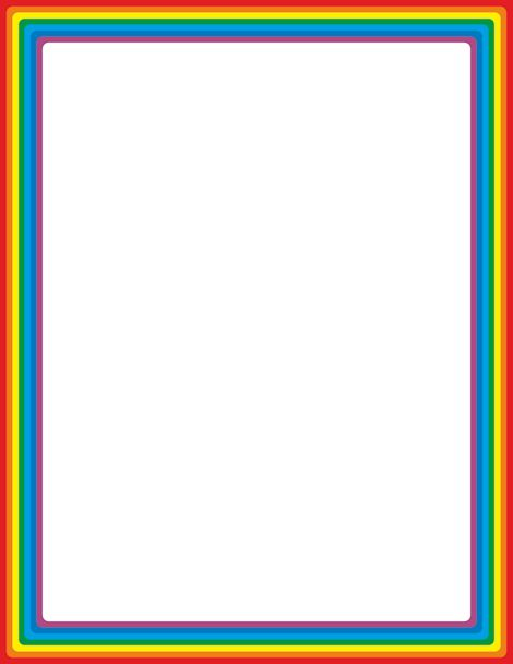 Rainbow page border. Free downloads at http://pageborders.org/download/rainbow-border/
