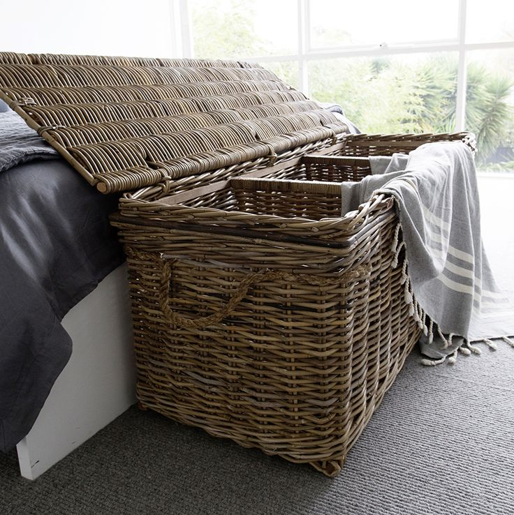 Everyone loves this Vintage Rattan Storage Trunk. And it's easy to see why….they look beautiful at the end of the bed or on the patio, have three different storage sections perfect for cushions, blankets, toys and firewood! www.rgimports.com.au