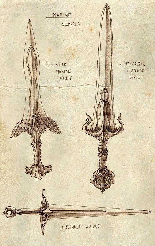 Marine Swords by ~Merlkir on deviantART