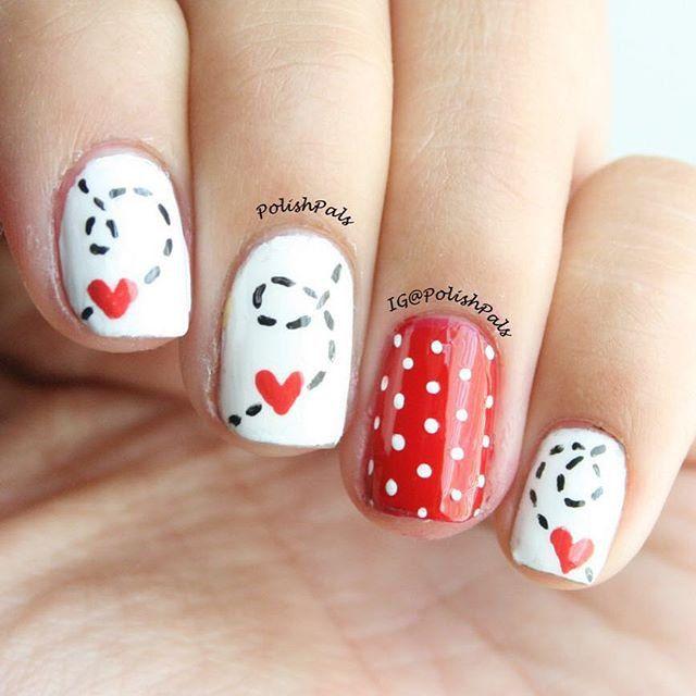 Les 25 meilleures id es de la cat gorie ongles saint valentin sur pinterest jolis dessins - Ongle st valentin ...