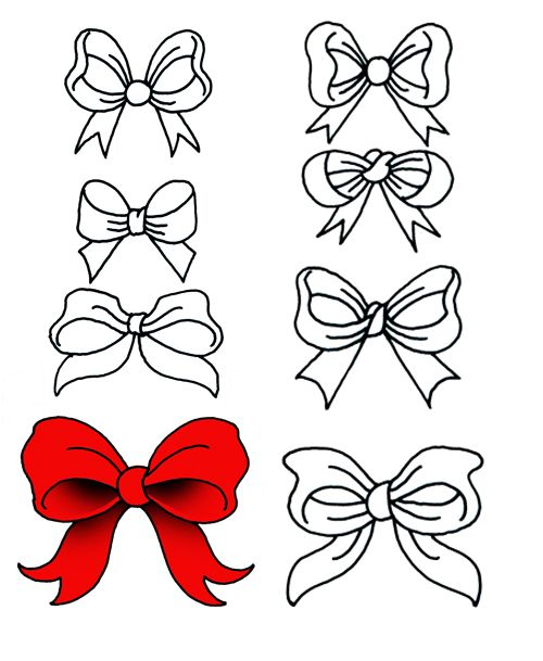 Different styles of bows.